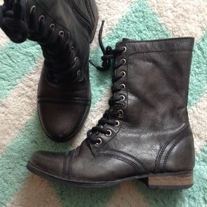 STEVE MADDEN troopa black military style boots 6.5